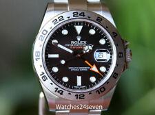 Rolex Explorer II Black Dial Orange Hand Steel 42mm Ref. 216570 w BOX & Papers