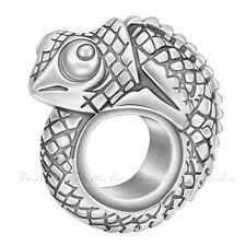 Lovelinks Bead Sterling Silver Chameleon European Spacer Charm Jewelry TT655