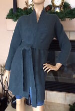 UNIQLO U LEMAIRE WOMEN LAMBSWOOL LONG CARDIGAN COLOR DARK GREEN NWT SIZE S 89$