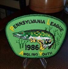 Vintage 1986 Pennsylvania League Of Angling Youth Patch *Bass Trout* Fishing