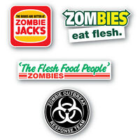 Zombie Stickers 4 pack quality vinyl water & fade proof