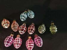 "Mini Blown Glass Easter Egg Ornaments Multicolored (12) 1"" Easter Tree/ Wreath"