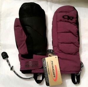 NEW Unisex Outdoor Research Primaloft Stormbound Mittens, Purple - M/8