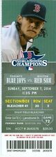 2014 Red Sox vs Blue Jays Ticket: Jose Bautista homer and R.A. Dickey win