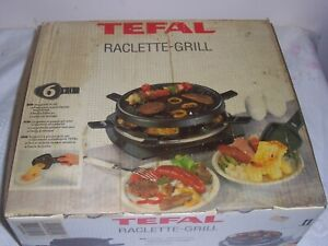 Tefal Raclette Grill 6  Hotplate & Grill Indoor BBQ never used 99p no reserve