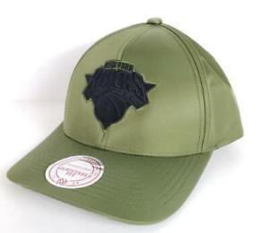 New York Knicks NY EXCLUSIVE Military Green Snapback Mitchell & Ness NBA Hat NWT