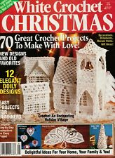 ~ ~ ~ WHITE CROCHET CHRISTMAS MAGAZINE ~ 1990 ~ 70 GREAT CROCHET PATTERNS ~ ~ ~