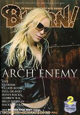 Burrn! Heavy Metal Magazine February 2009 Japan Arch Enemy Kiss Extreme