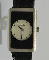GLYCINE Damen Armbanduhr / Handaufzug / 800er Silber & Krokodil-Armband