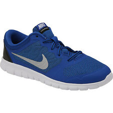 Nike  Boys Sneakers Royal Blue /Metallic Silver/Black  Flex  Boys Size 1 1/2 M