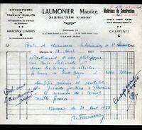 """MARCAIS (18) Ets de TRAVAUX PUBLICS """"Maurice LAUMONIER"""" en 1958"""