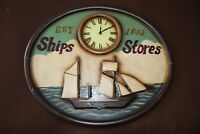 Vintage wooden signboard Ships Stores British pub bar inn sign decor Bar decor