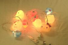 Sanrio Hello Kitty 10-Light Indoor Decorative String Light HK and Flowers 2 SETS