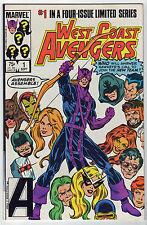 West Coast Avengers #1 Marvel + 4 VF bonus issues Hawkeye 1984-86 TIGRA Iron Man