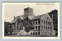 Marlinton WV, Methodist Church, Chrome West Virginia Postcard