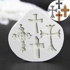 Gothic Cross Jesus Silicone Fondant Mould Cake Decorating Chocolate Baking Mold