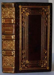 Poems by William Cowper, 1820 - Fine handsome full gilt morocco leather binding