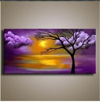 CHENPAT186 large home art landscape tree hand-painted oil painting art on canvas