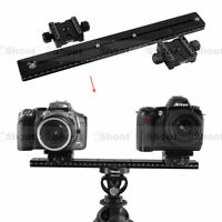 iShoot 35cm Quick Release Plate + 2 Two-sided Clamp for Camera Tripod Ball Head