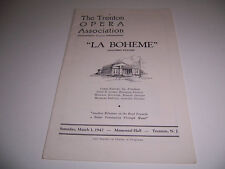 1947 MEMORIAL HALL THEATRE PLAYBILL - LA BOHEME - THOMAS HAYWARD LICIA ALBANESE