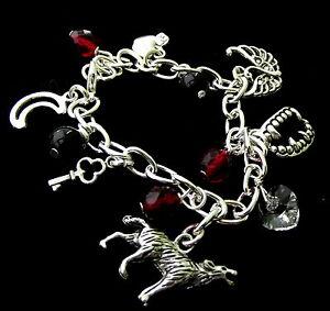 Twilight / Vampire Inspired Charm Silver Plated Bracelet - Gift Box Option!