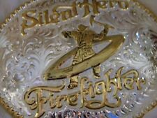 GIST SILENT HERO FIRE FIGHTER #390 BELT BUCKLE NEW IN BOX