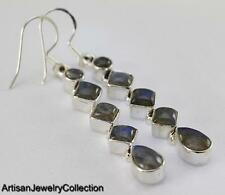 LABRADORITE EARRINGS 925 STERLING SILVER ARTISAN JEWELRY COLLECTION Y071B