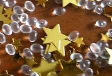 GOLD STAR BEAD AND SEQUIN SCATTER TABLE DECORATION APPROX 1/2 PINT
