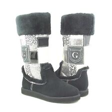New Authentic Guess Boots By Marciano Harmonie Black Multi Textile Upper Size 10