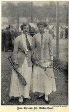 Damentennis Frau Uhl und Frl.Müller-Beeck Historische Aufnahme von 1914