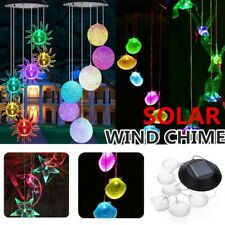 Color-Changing Outdoor Led Solar Powered Wind Chime Light Yard Garden Decor gift