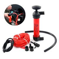 Portable Manual Car Siphon Pump Fuel Gas Transfer Oil Liquid Hand Air Pumps Kit