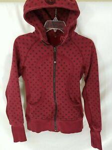 Lululemon Red Polka Dot Full-Zip Hoodie Sweatshirt Women's S