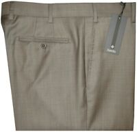 $325 NEW ZANELLA DEVON KHAKI TAUPE WEAVE SUPER 120'S WOOL DRESS PANTS SLACKS 35