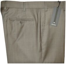 $325 NWT ZANELLA DEVON KHAKI TAUPE WEAVE SUPER 120'S WOOL DRESS PANTS 40