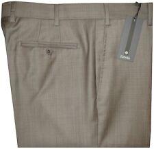 $325 NWT ZANELLA DEVON KHAKI TAUPE WEAVE SUPER 120'S WOOL DRESS PANTS 36