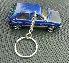 HOT WHEELS VOLKSWAGEN GOLF BLUE DIECAST KEYRING 1/64