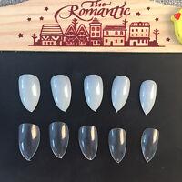 600pcs sharp Artificial Nails Tips False fake full cover DIY Pointy Stiletto.