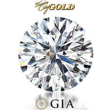GIA Certified Round Brilliant 0.47 Carat 1/2Ct D Color SI1 Clarity Loose Diamond