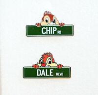 Disney 2 Pin lot Street Signs Mystery 114317 Dale Blvd 113668 Chip Rd