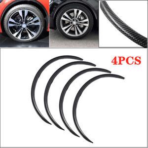 4X 72*2cm Carbon Fiber Car Wheel Eyebrow Arch Trim Lips Fender Flares Protector