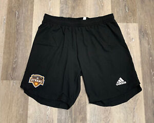 Adidas MLS Houston Dynamo Away Game Shorts Authentic 2021 Black Size Large