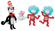 Dr Seuss Cat in the Hat Finger Puppet Set Thing 1 & 2 Fish Manhattan Toy 3y+ NEW
