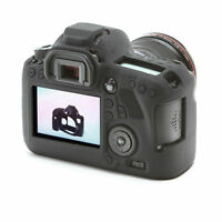 Silicone Rubber Protective Body Cover Case Skin For Canon EOS 6D Camera Black