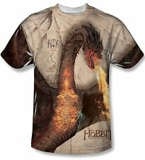 The Hobbit Smaug Attack Sublimation Front Print T-Shirt Size Xl, New Unworn