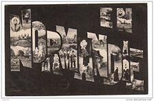 NORMANDIE lettres alphabet - voyagé 1905