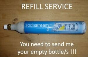 SODASTREAM REFILL SERVICE - CO2 GAS - 425g / 60l  for YOUR empty cylinder bottle