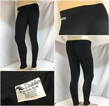 Dublin Horse Riding Pants M Black Poly Lycra Leather Patches India EUC YGI 7321