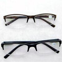 Unisex Black Tan Spring Hinge Reading Glasses Reader Full Frame for Men Women