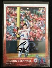GORDON BECKHAM 2015 TOPPS Autograph Signed AUTO Baseball Card 102 ANGELS